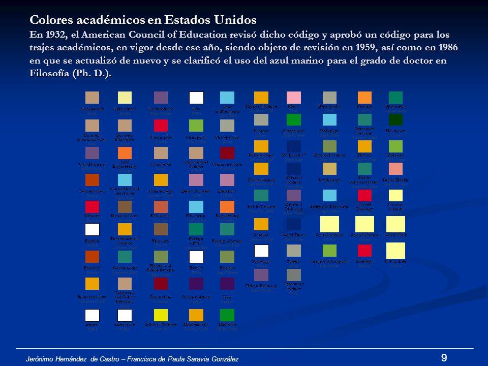 Jerónimo Hernández de Castro – Francisca de Paula Saravia González 8 Cfr. Shaw: Academic dress of Bristish and Irish Universities, p.32 Mortar-board o