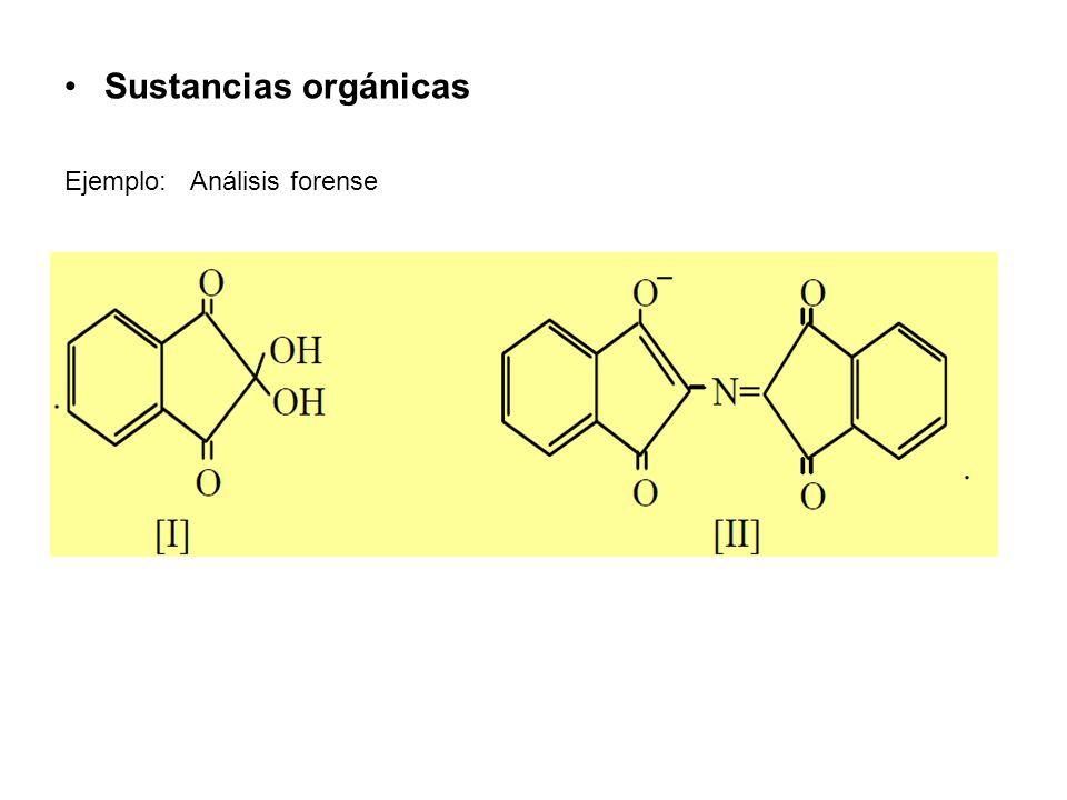 Sustancias orgánicas Ejemplo: Análisis forense