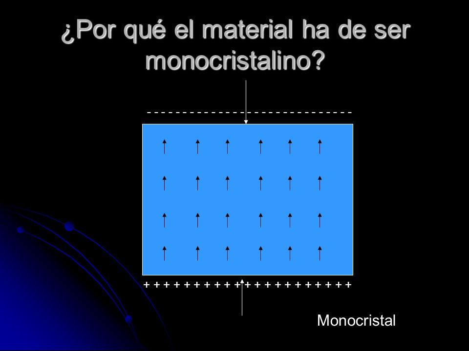 ¿Por qué el material ha de ser monocristalino? Policristal