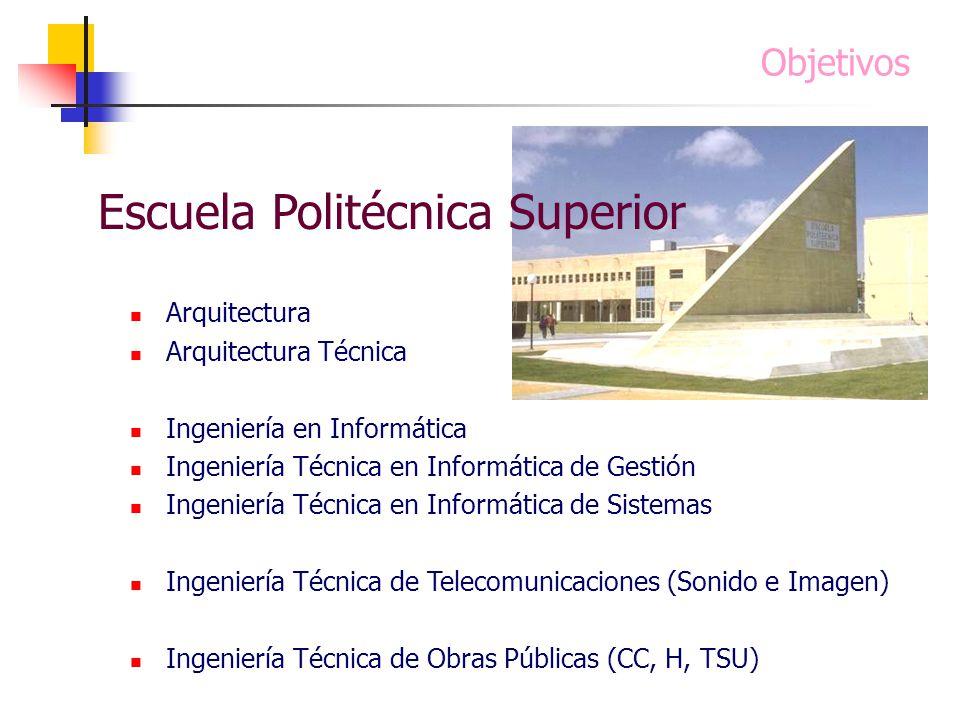 Arquitectura Arquitectura Técnica Ingeniería en Informática Ingeniería Técnica en Informática de Gestión Ingeniería Técnica en Informática de Sistemas