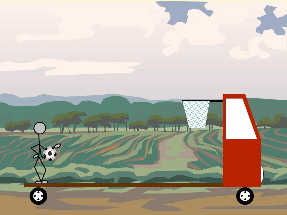 Las leyes de la Física son las mismas tanto si el camión está en reposo como si está animado de un movimiento rectilíneo y uniforme. CONCLUSIÓN: