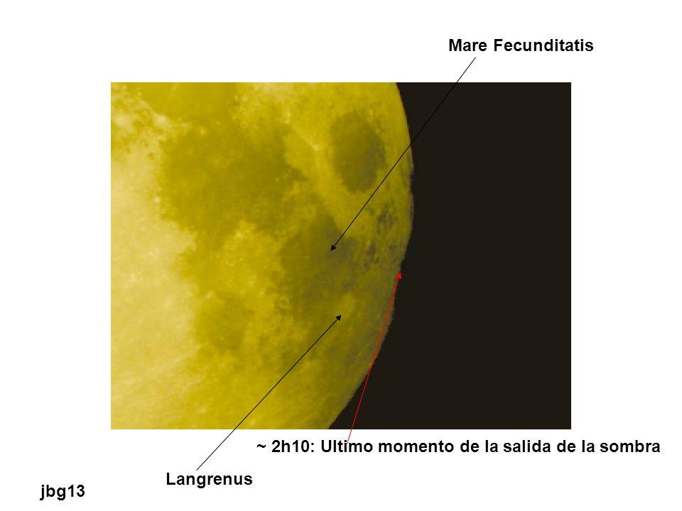 Mare Fecunditatis Langrenus ~ 2h10: Ultimo momento de la salida de la sombra jbg13