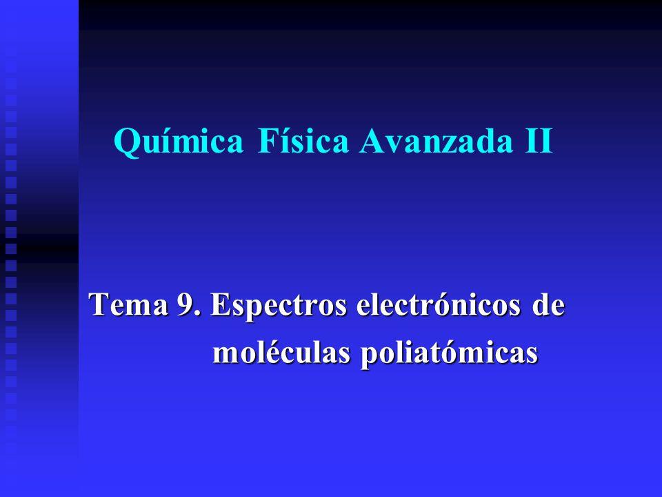 Química Física Avanzada II Tema 9. Espectros electrónicos de moléculas poliatómicas moléculas poliatómicas