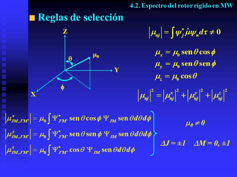 Espectro de absorción 4.2. Espectro del rotor rígido en MW