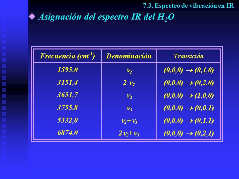 Actividad de las vibraciones del CO 2 7.4.