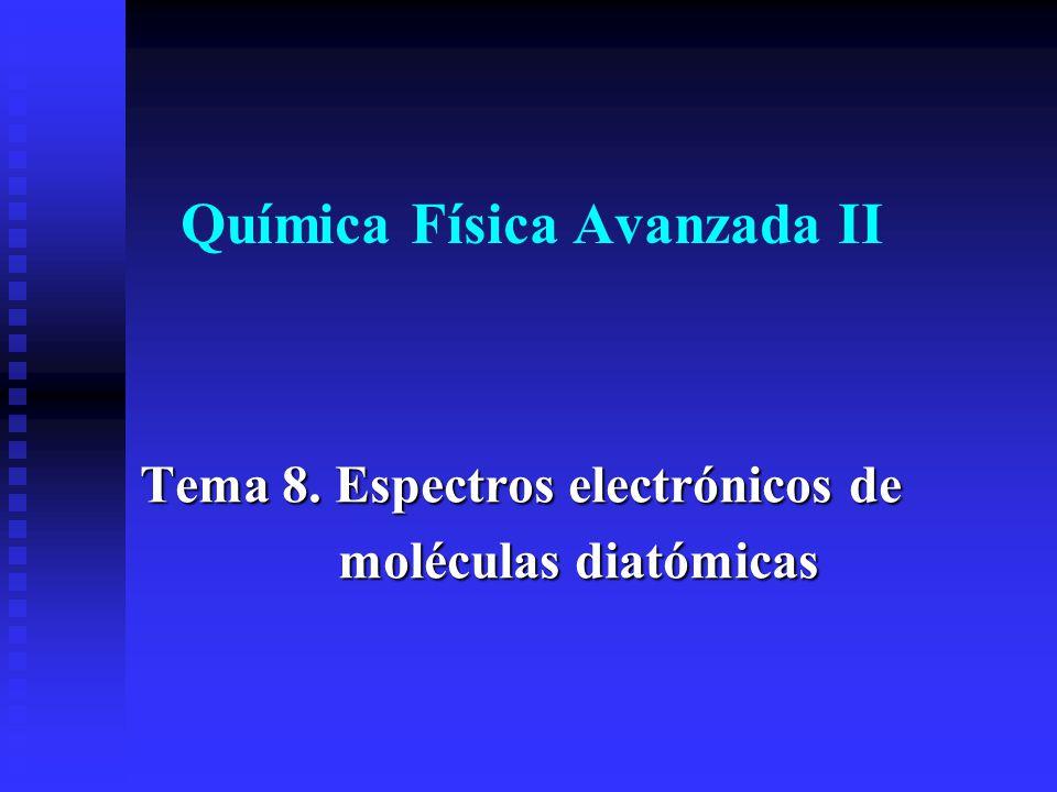 Química Física Avanzada II Tema 8. Espectros electrónicos de moléculas diatómicas moléculas diatómicas