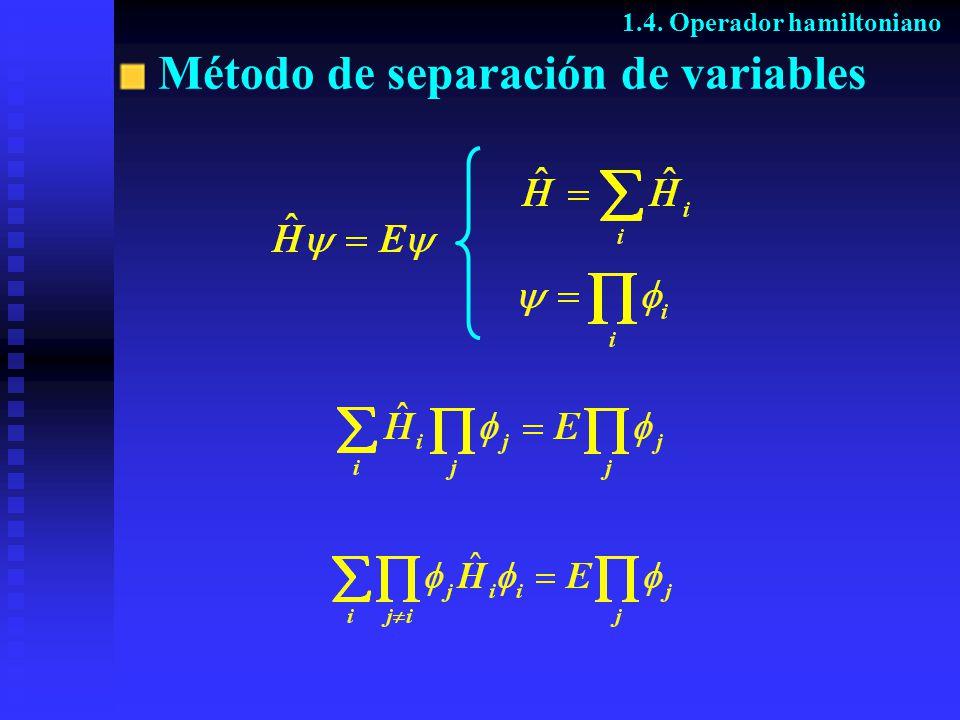 Método de separación de variables 1.4. Operador hamiltoniano