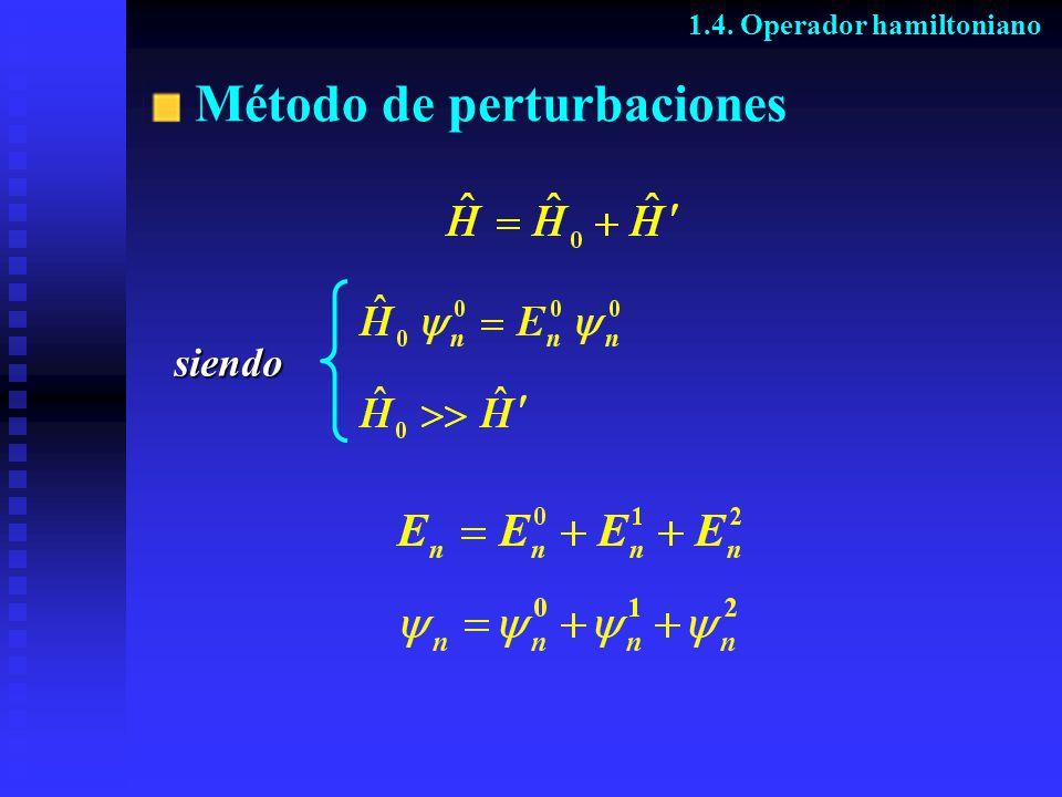 Método de perturbaciones 1.4. Operador hamiltoniano siendo