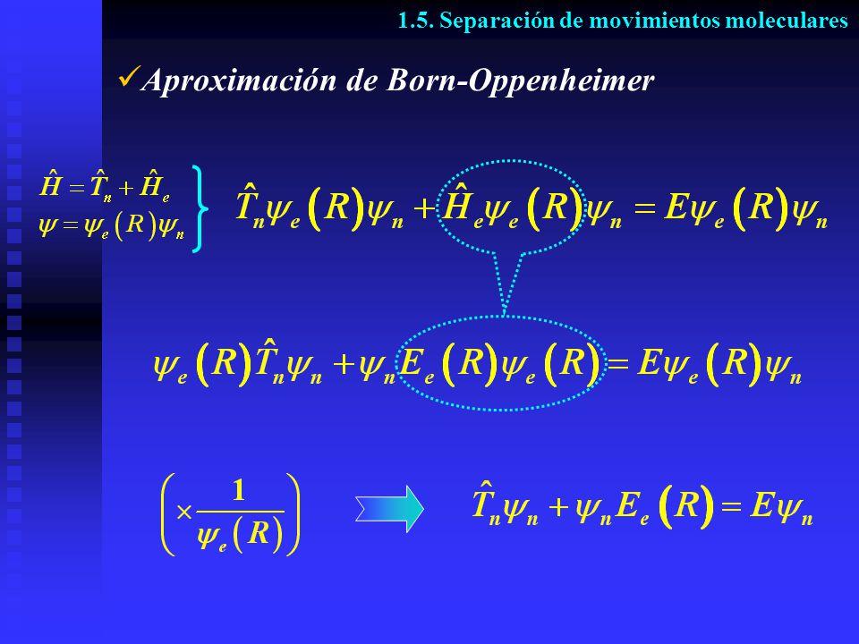Aproximación de Born-Oppenheimer 1.5. Separación de movimientos moleculares