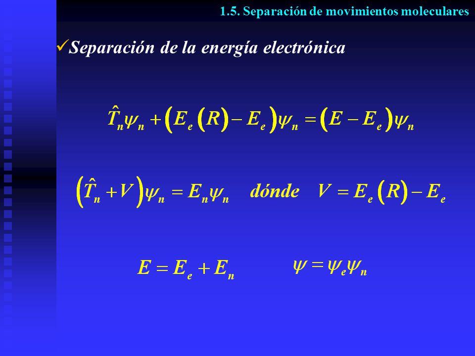 Separación de la energía electrónica 1.5. Separación de movimientos moleculares