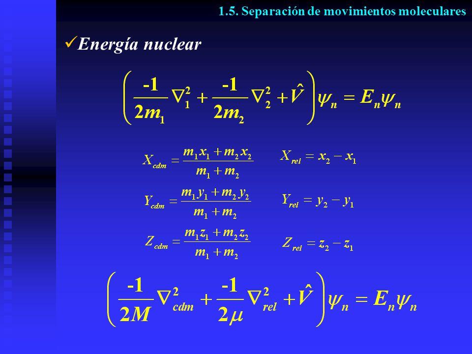 Energía nuclear 1.5. Separación de movimientos moleculares