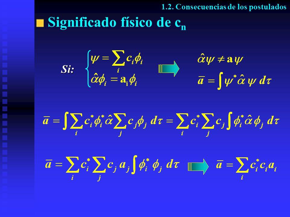 Significado físico de c n 1.2. Consecuencias de los postulados Si: