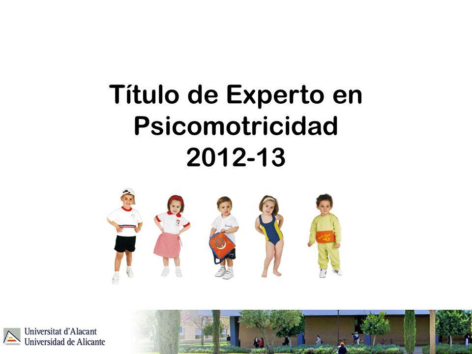 Título de Experto en Psicomotricidad 2012-13