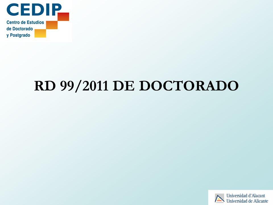 RD 99/2011 DE DOCTORADO