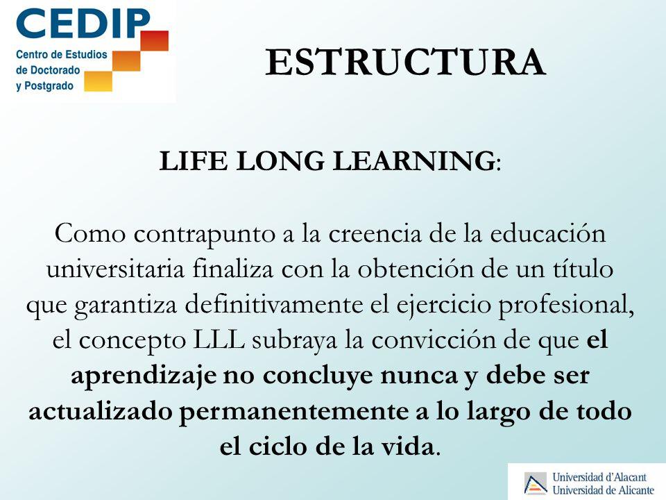LIFE LONG LEARNING: Como contrapunto a la creencia de la educación universitaria finaliza con la obtención de un título que garantiza definitivamente
