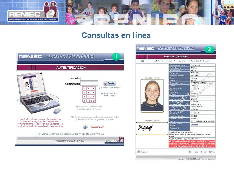 Consultas en línea 1 1 2 2