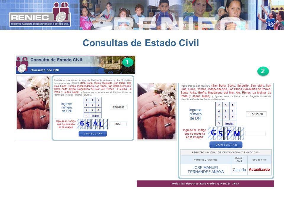 Consultas de Estado Civil 1 1 2 2