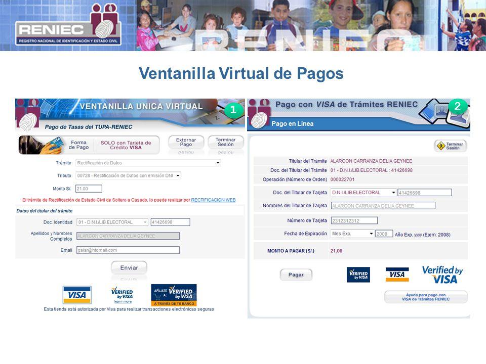 Ventanilla Virtual de Pagos 1 1 2 2