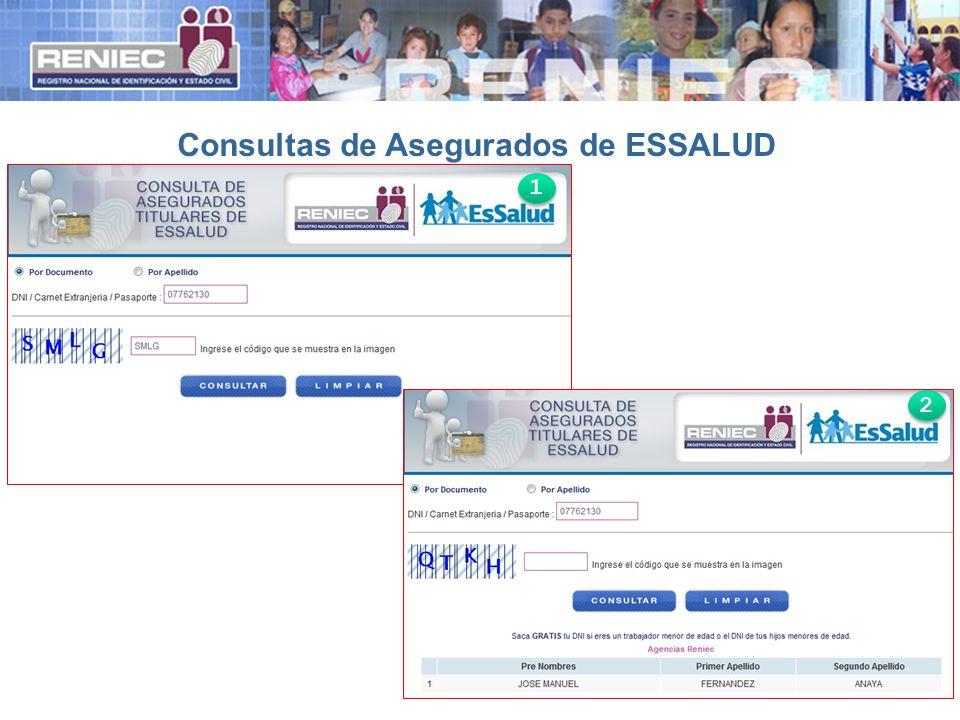 Consultas de Asegurados de ESSALUD 1 1 2 2