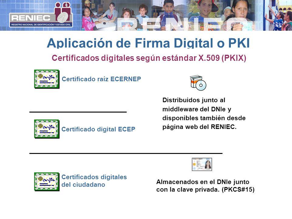 Certificado raíz ECERNEPCertificado digital ECEP Certificados digitales del ciudadano Distribuidos junto al middleware del DNIe y disponibles también desde página web del RENIEC.