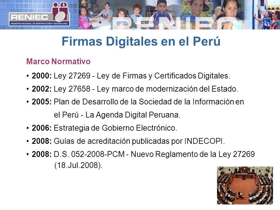 2000: Ley 27269 - Ley de Firmas y Certificados Digitales.