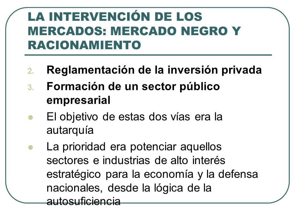 LA INTERVENCIÓN DE LOS MERCADOS: MERCADO NEGRO Y RACIONAMIENTO 2.