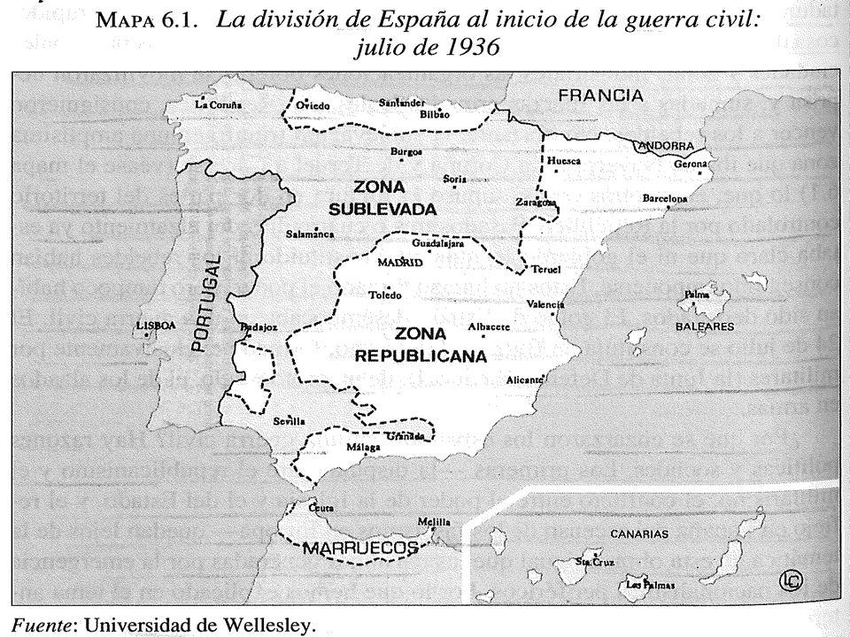 ECONOMÍA DE GUERRA, REVOLUCIÓN SOCIAL Y FINANCIACIÓN BÉLICA Los propietarios de empresas tuvieron una participación relevante en la financiación de la guerra, a través de donaciones, entrega de créditos y contactos exteriores para la financiación del extranjero e) Apoyo de las potencias fascistas Fue decisivo en las primeras etapas del conflicto: Portugal proporcionó su territorio como base logística para las campañas de verano del 36 (Extremadura y Andalucía) Alemania e Italia proporcionaron ayuda material y militar