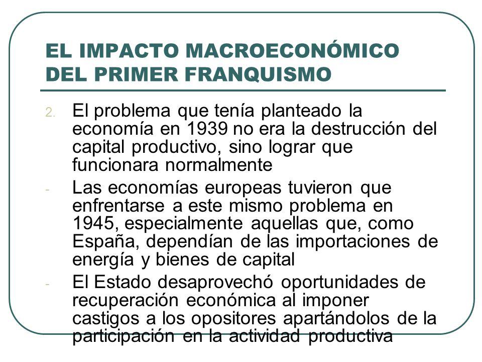 EL IMPACTO MACROECONÓMICO DEL PRIMER FRANQUISMO 2.