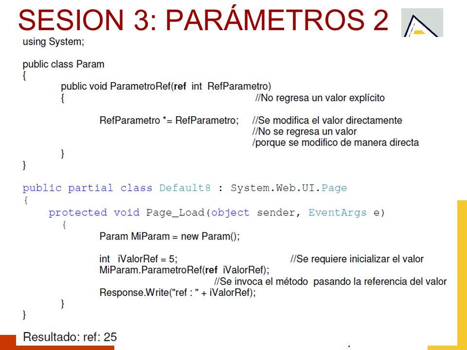 Septiembre 2010 SESION 3: PARÁMETROS 2