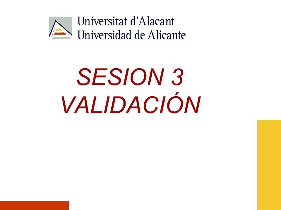 SESION 3 VALIDACIÓN