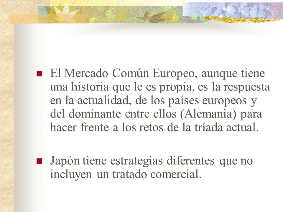 El mundo actual se encuentra dividido en una tríada de poder (Europa, Japón y los EU), que tiende a sobredeterminar la evolución de otros acontecimien