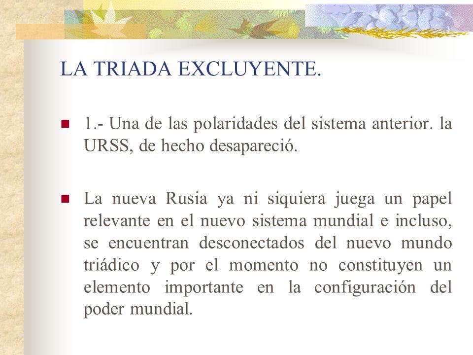 LA TRIADA EXCLUYENTE.1.- Una de las polaridades del sistema anterior.