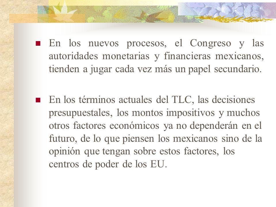 FACTORES POLITICOS. La formación de expectativas económicas en México dependen ya y en forma considerable de los acontecimientos políticos en los EU,