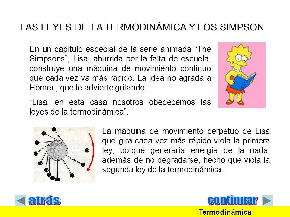 En un capítulo especial de la serie animada The Simpsons, Lisa, aburrida por la falta de escuela, construye una máquina de movimiento continuo que cad