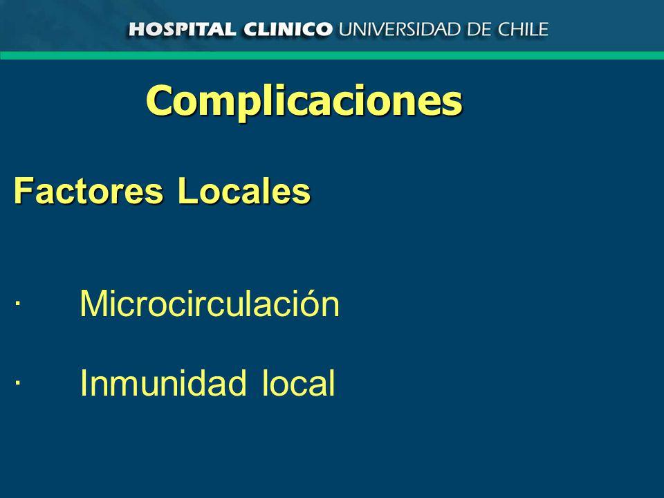 Complicaciones Factores Locales ·Microcirculación ·Inmunidad local