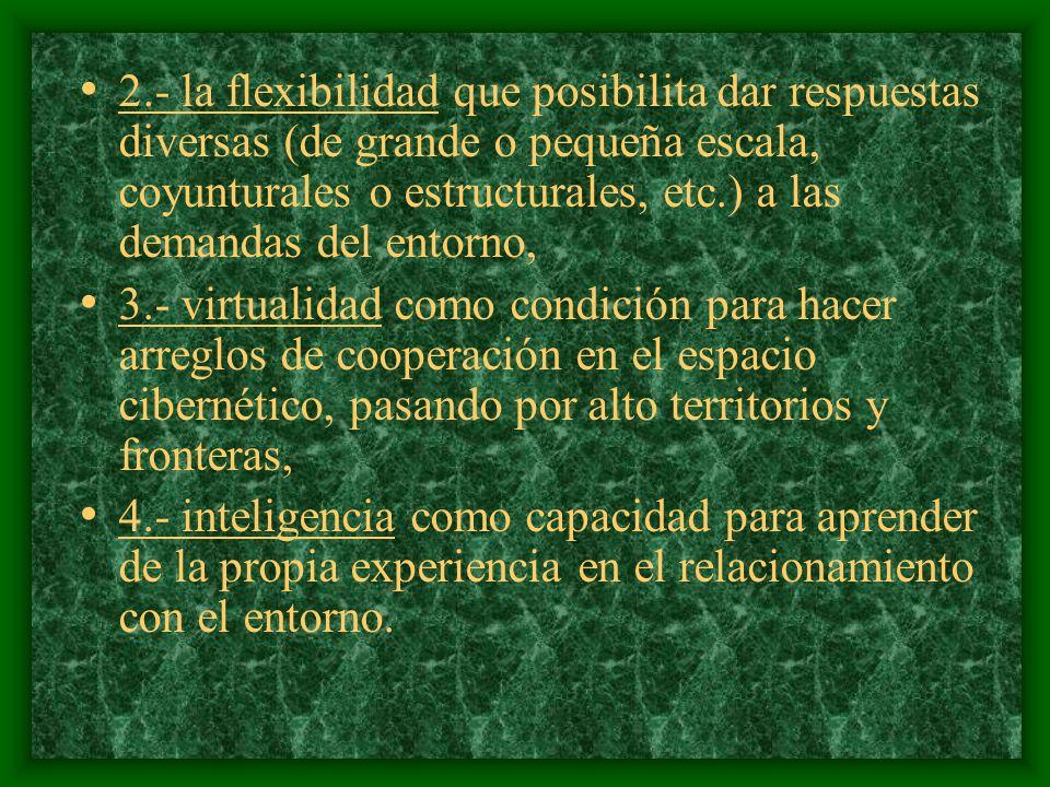 Un segundo factor de desarrollo son las instituciones (las organizaciones).
