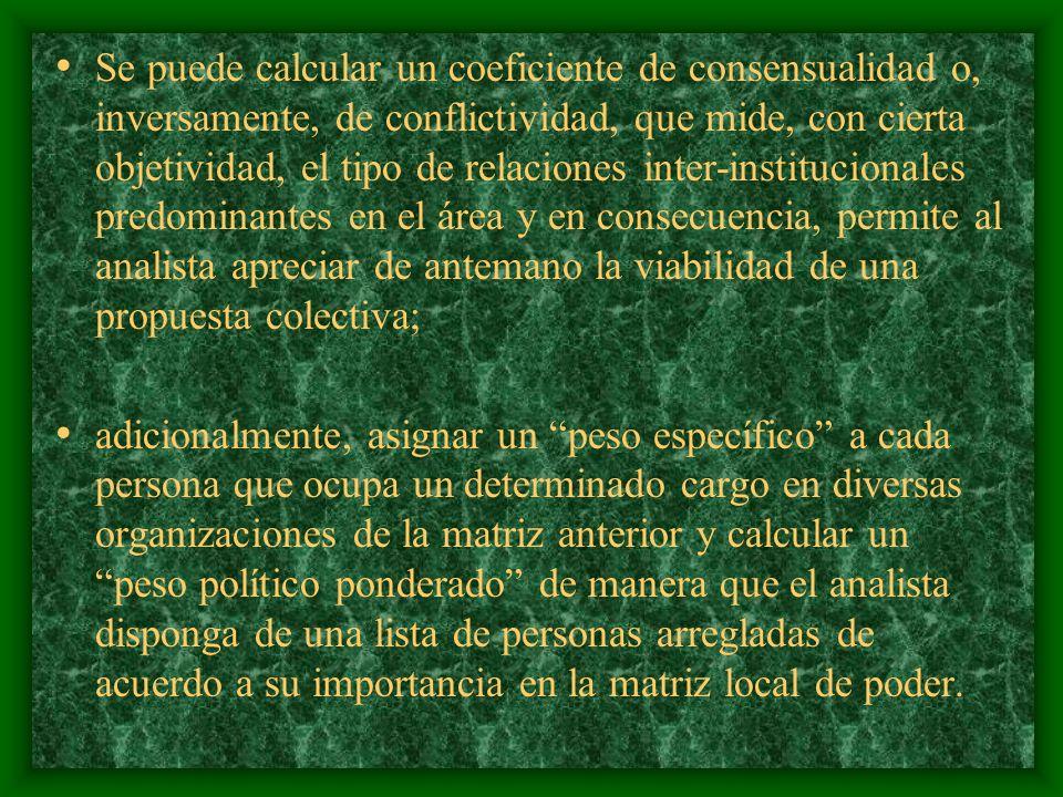 los segundos son instituciones que representan intereses de grupo, sectoriales, y los terceros corresponden en rigor a los movimientos sociales territoriales o regionales.