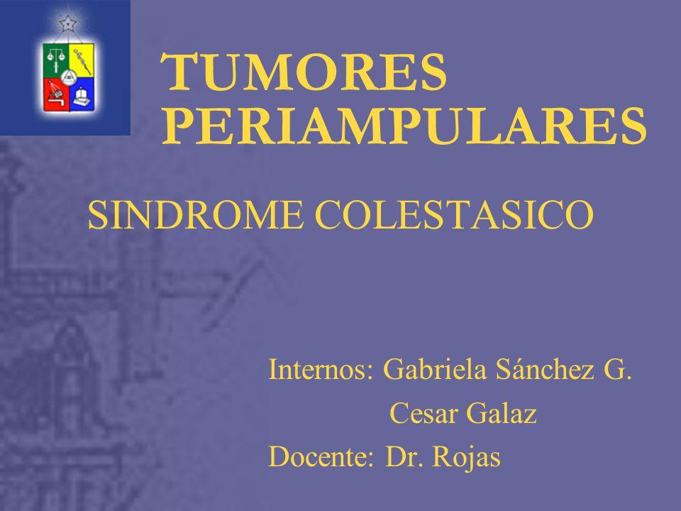SINDROME COLESTASICO Internos: Gabriela Sánchez G.