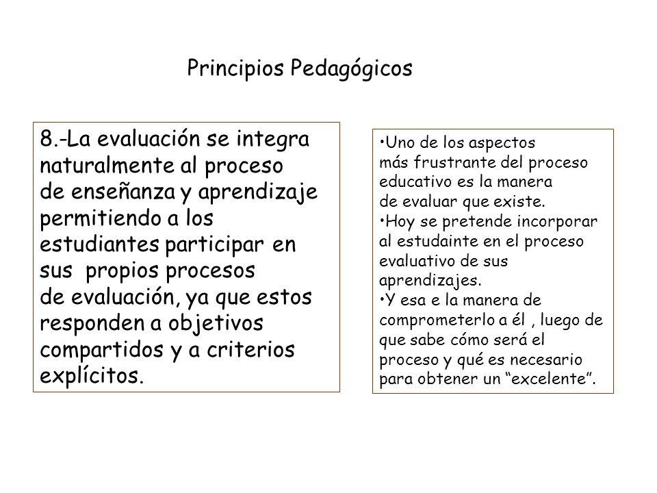 Principios Pedagógicos 7.-Los maestros enseñan explícitamente estrategias metacognitivas Cuando los alumnos son capaces de comprender un texto, compar