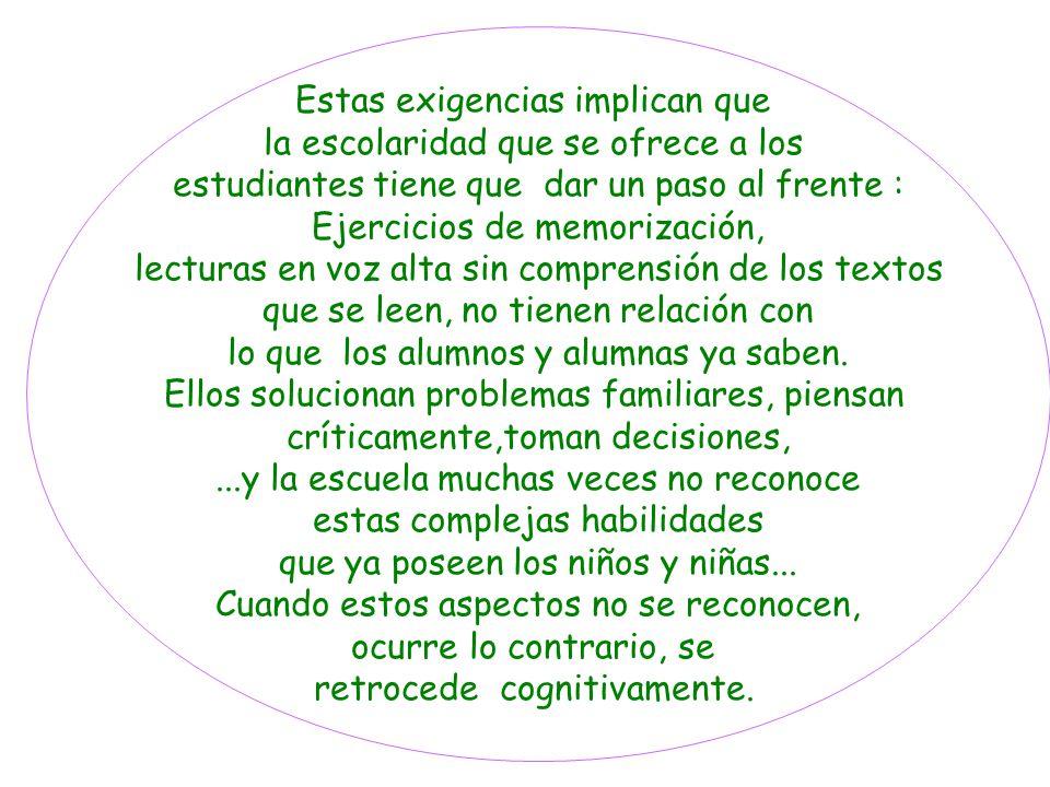 Otros tiempos... Escuela Ampliar el desarrollo de la lengua materna permite contar con una buena base para el aprendizaje de la lectura y escritura. L