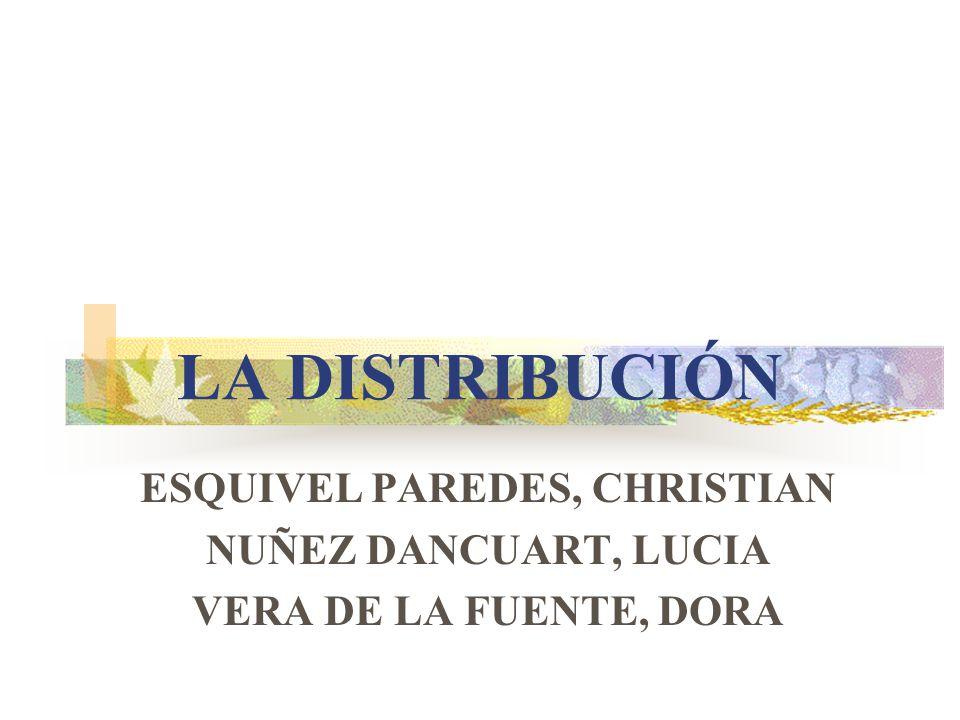 LA DISTRIBUCIÓN ESQUIVEL PAREDES, CHRISTIAN NUÑEZ DANCUART, LUCIA VERA DE LA FUENTE, DORA