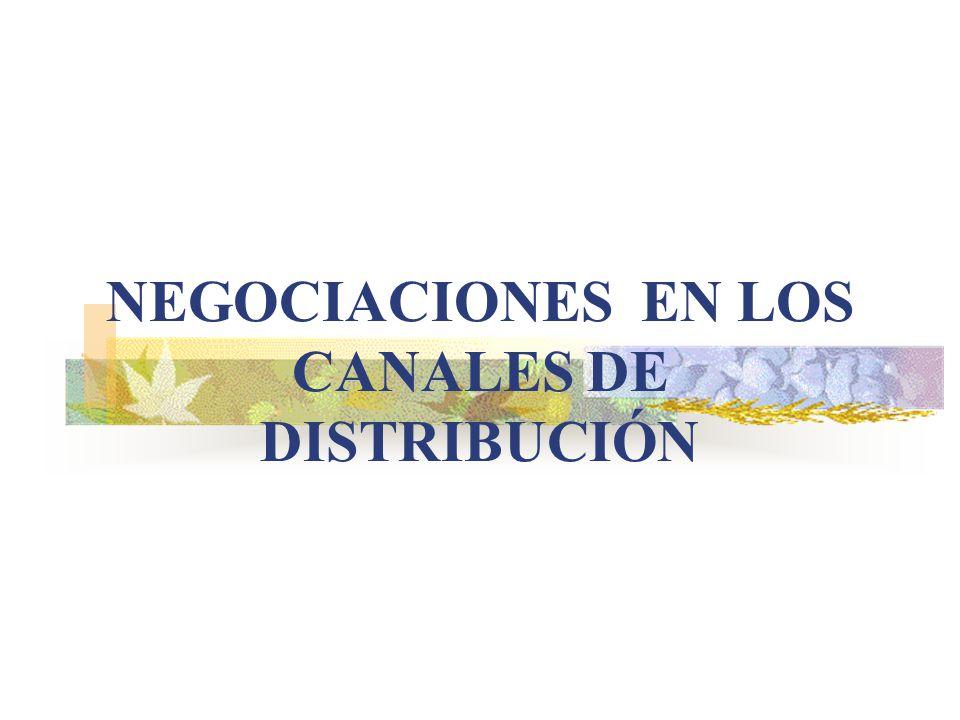 NEGOCIACIONES EN LOS CANALES DE DISTRIBUCIÓN