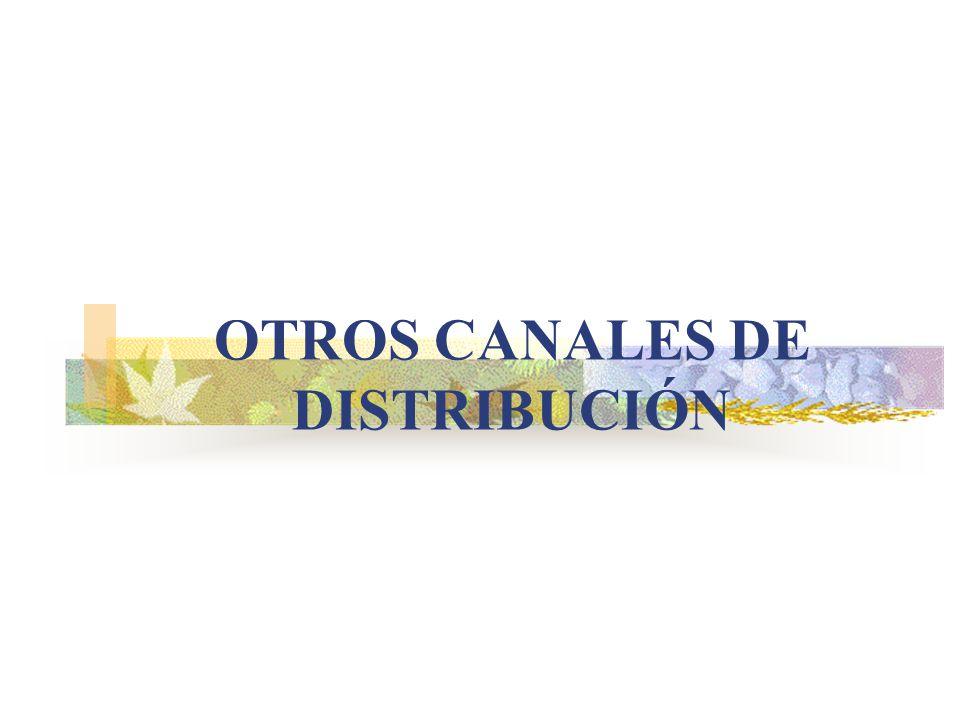 OTROS CANALES DE DISTRIBUCIÓN