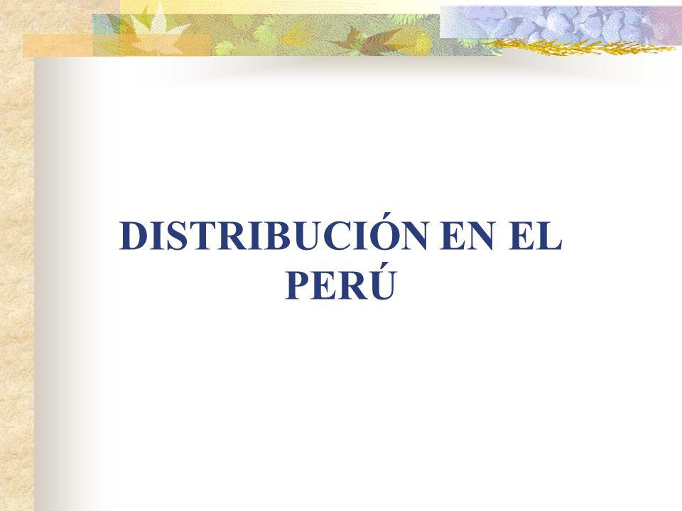 DISTRIBUCIÓN EN EL PERÚ