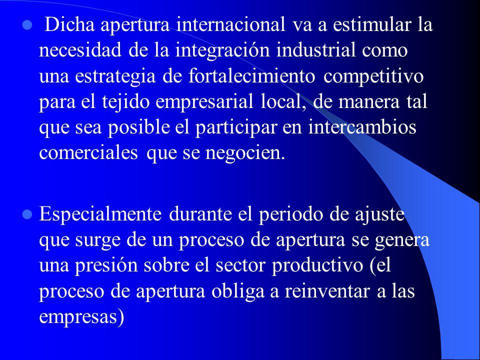 La Internacionalización Es decir la apertura económica y comercial hacia otros países y regiones a través de tratados económicos y/o de libre comercio