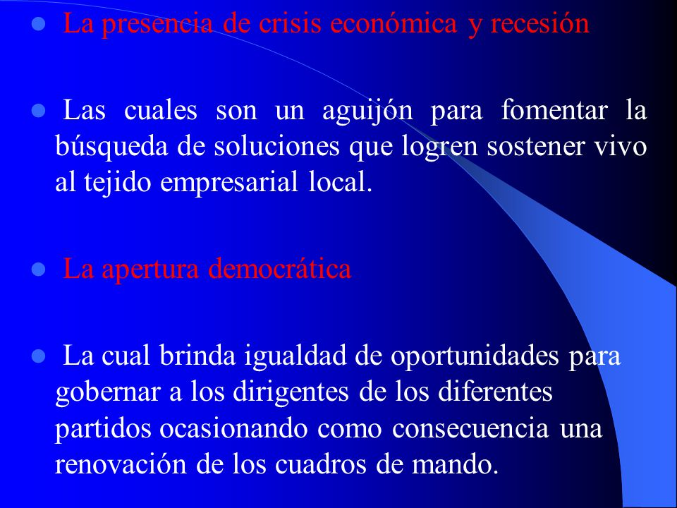 Dicha apertura internacional va a estimular la necesidad de la integración industrial como una estrategia de fortalecimiento competitivo para el tejid