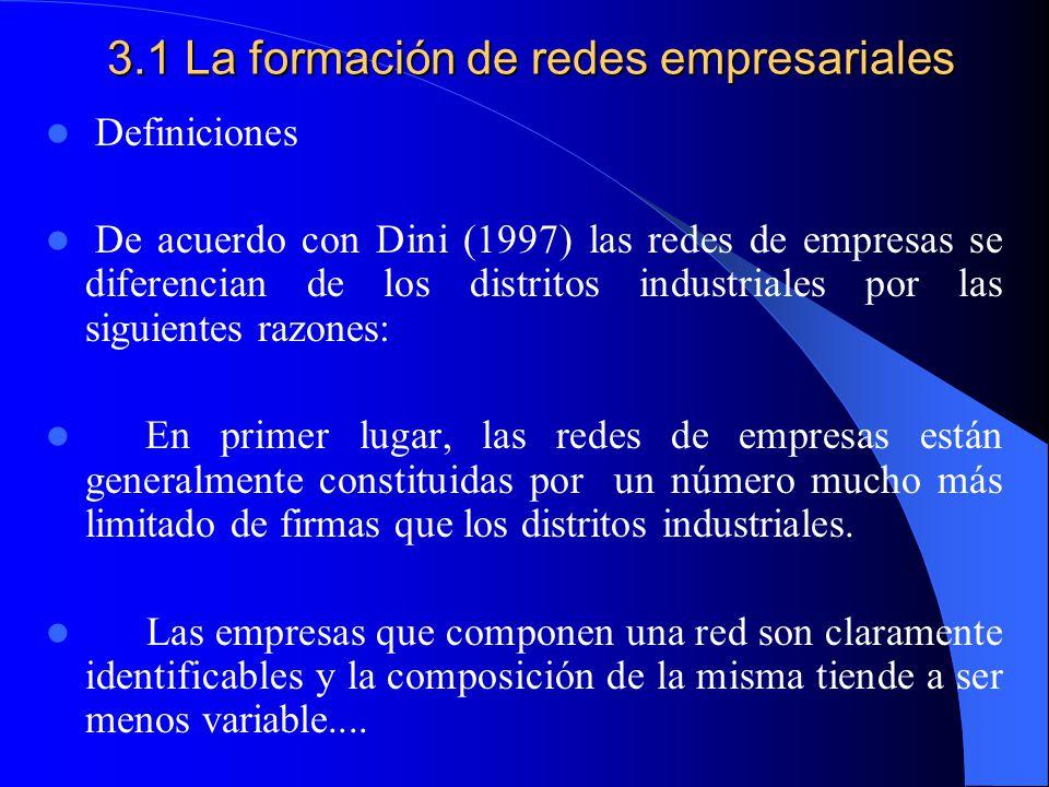 Construcción de redes de empresas en sectores industriales con concentraciones de pequeños empresarios. Identificación de agentes económicos locales i