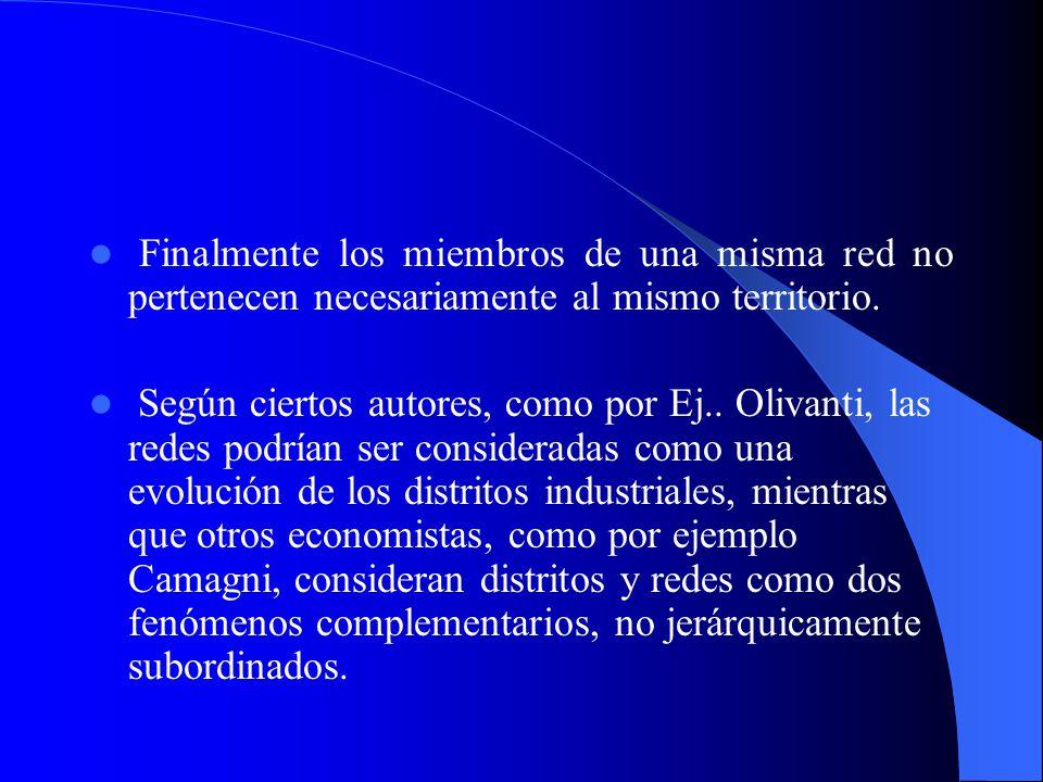 3.1 La formación de redes empresariales 3.1 La formación de redes empresariales Definiciones De acuerdo con Dini (1997) las redes de empresas se difer