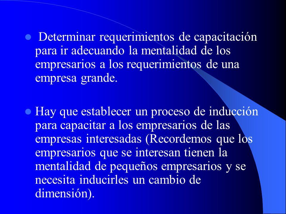 Lograr la vinculación con consumidor final a través del establecimiento de una red comercial (entre los 6 y 12 meses). 5. Establecen un proceso de seg