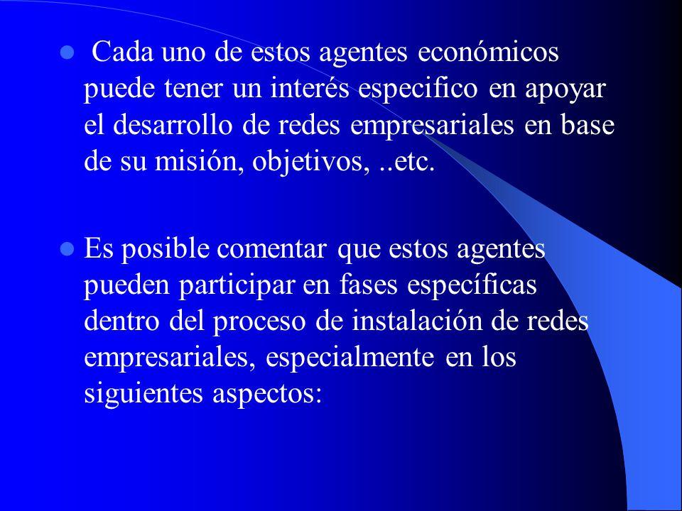 Organizaciones empresariales (cámaras empresariales, asociaciones de empresarios). Entidades del gobierno, a nivel nacional, regional o municipal. Org